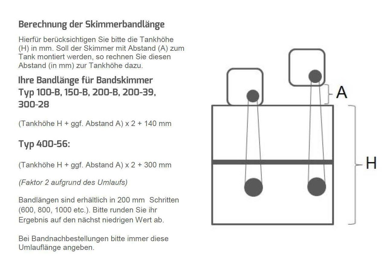 Berechnung-skimmerband-Laenge