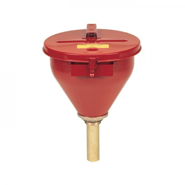 Sicherheitsfasstrichter, Falmmsperre, 152 mm, rot