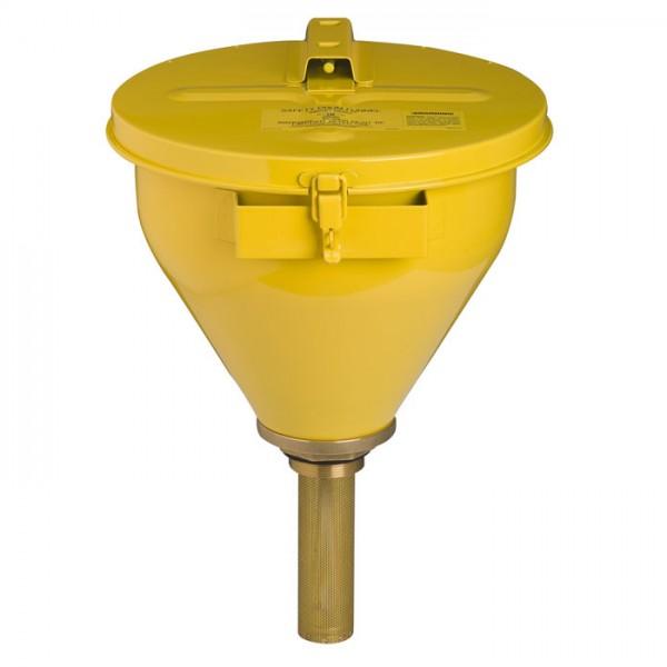 Sicherheitsfasstrichter, Flammsperre 152 mm lang, gelb
